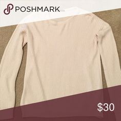 Simple Brandy Melville Knit NWOT, unworn, unwashed. Soft, great quality, creamy off white color. One size but fits like a medium on me. Brandy Melville Sweaters