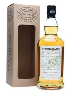 Springbank 2000 - 12 Years Old - Calvados Wood Scotch Whisky : The Whisky Exchange Springbank Whisky, Bourbon Whiskey, Scotch Whisky, Whiskey Bottle, Vodka Bottle, Rum, Single Malt Whisky, 12 Year Old, Bottle Labels