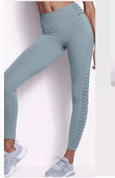 11d735444e VICTORIA'S SECRET SPORT GREEN BLACK LOGO BOOTCUT ANYTIME YOGA PANT XS S M L  XL | eBay. Victoria's Secret Sport Total Knockout tight Mesh ...