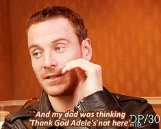 "ninemoons42: "" beauxtiful: "" ""This isn't one that we're gonna watch together, mommy"". — Michael Fassbender on watching Shame with his mom. "" The face he makes in the last left-hand gif is like -..."