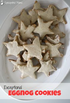 Best Eggnog Recipes: Exceptional Eggnog Cookies If you love the flavor of eggnog and you're hankering for some cookies, then you have to try these delicious treats! Best Eggnog Recipe, Eggnog Cookies, Small Cake, Scones, Christmas Cookies, New Recipes, Yummy Treats, Waffles, Tasty