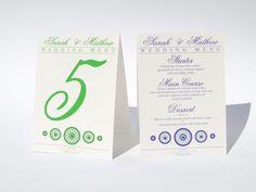Bari menu tent wedding day stationery with swarovski crystals