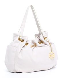 White Michael Kors purse for spring/summer