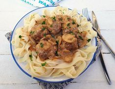 Meatball Stroganoff is a delicious, hearty and rich comfort food ! Unique spin on the already popular Stroganoff dish with standard ingredients Meatball Stroganoff, Meatball Recipes, Ground Beef Recipes, Cooking Recipes, Kitchen Recipes, Food To Make, Main Dishes, Dinner Recipes, Spin
