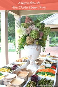 Easy pick up foods | Outdoor Summer Party ideas brightboldbeautiful.com