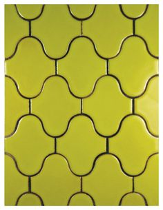 Fireclay Tiles Debris Series Paseo in Chartreuse can be purchased at Green Depot