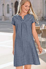 Chambray-Kurzarmkleid Chambray, Online Katalog, Shirt Dress, My Style, Casual, Shirts, Dresses, App, Games