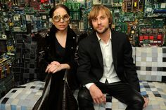 lady gaga with benjamin rollins caldwell in the 'binary room'