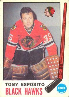 Tony Esposito - Chicago Blackhawks. 1969-70 O-Pee-Chee rookie card.