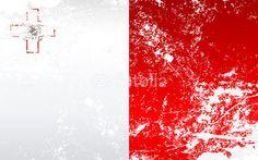 Malta Grunge Texture Flag