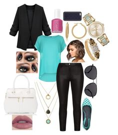 Sky Profile by devon-c-90 on Polyvore featuring WearAll, Samoon, Emanuel Ungaro, Michael Kors, Gioelli Designs, Louise et Cie, The Row, Tory Burch, Essie and women's clothing