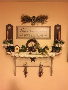 Love this Prim Country wall shelf