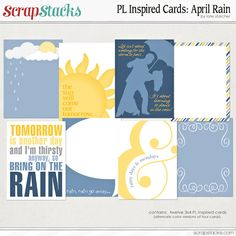 Free Project LIfe Inspired Cards: April Rain by Lorie Starcher for ScrapStacks