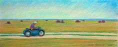 In pursuit of the summer. 2013 cardboard / oil pastel, 20x50