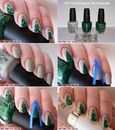 Diy Projects: Christmas Nail Art Ideas Nail design Nail Polish DIY Nails Christmas Tree Nails Christmas decoration