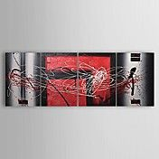Hand-painted Abstract Oil Painting with Stret... – USD $ 109.99