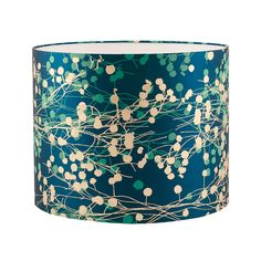Mimosa silk lampshade – peacock / jade / soft gold Clarissa Hulse