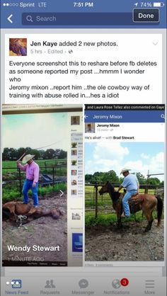 ANIMAL ABUSER ALERT!!! Jeromy/Jeremy Mixon. THIS POS beats and tortures horses AND brags about it on Facebook. Get this out there, make his life a misery like does to the poor animals.