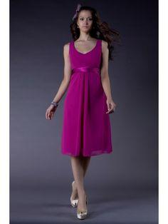 A-line Chiffon V-neck slightly Shirred Short Special Short Specia Occasion Dress