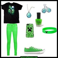 Minecraft Fashion, I love this! WOW I love Minecraft so I would have a prob because I would want to wear it everyday! Minecraft Diy, Minecraft Outfits, How To Play Minecraft, Minecraft Memes, Minecraft Clothes, Minecraft Costumes, Minecraft Anime, Minecraft Construction, Minecraft Stuff