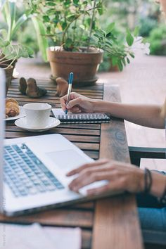 Young woman using mobile phone at outdoor cafe by jacoblund. Cropped shot of young woman using mobile phone at outdoor cafe. Female sitting at table with laptop reading text mess. Photography Branding, Photography Business, Lifestyle Photography, Lifestyle Fotografie, Pinterest Instagram, Oriflame Cosmetics, Business Portrait, Business Headshots, Outdoor Cafe