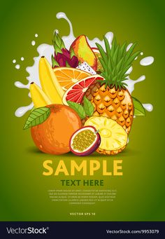 Fruit mix on milk splash Royalty Free Vector Image , Rainbow Fruit Kabobs, Rainbow Snacks, Yogurt Packaging, Fruit Packaging, Food Poster Design, Food Design, Vector Food, Fruit Clipart, Pomegranate Recipes