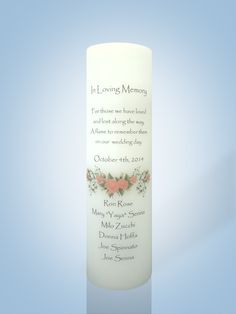 Wedding Memorial Candle | Personalized Candle Store