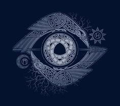 Para comprender el misterio de las runas, Odin trajo a sí mismo en sacrificio, y nueve días y noches colgado en el tronco de Yggdrassil, clavado en ella por su propia lanza Gungnir .. • Buy this artwork on apparel, stickers, phone cases y more.