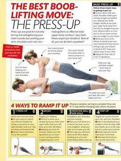boob lifting press-ups Fitness Goals, Yoga Fitness, Fitness Tips, Fitness Motivation, Health Fitness, Workout Fitness, Chest Workouts, Lifting Workouts, Get In Shape