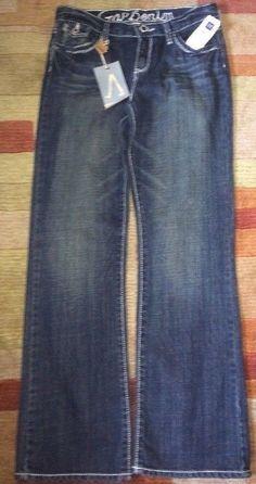 Almost Famous Little Girls Flap Pocket Knit Jean