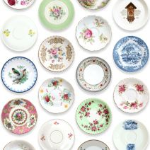Something i was thinking of doing myself with all those dessert plates we bought for the wedding!