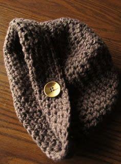 LazyTcrochet: Crochet Hat Pattern - Organic Cotton Simple Crochet Hat from LazyT.  1 sk Nature's Choice Organic Cotton from Lion Brand Yarn (walnut), J/6 mm hook. Fits adults/teens.