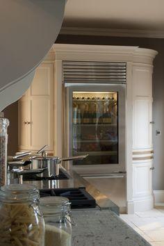 love the fridge full of champers! In Good Taste: Hayburn & Co - Design Chic Kitchen Interior, Interior And Exterior, Kitchen Design, Kitchen Decor, Interior Design, Cozy Kitchen, Kitchen Living, Co Design, House Design