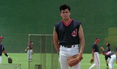 Willie Mays Hayes: What the hell league you been playing in? Willie Mays Hayes: Never heard of it. How'd you end up playing there? Rick Vaughn: Stole a car. Dennis Haysbert, Baseball Movies, Rene Russo, Cleveland Indians Baseball, Indian Face, Willie Mays, Charlie Sheen, We Movie