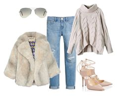 """Untitled #13"" by luckalucia on Polyvore featuring White House Black Market, Jimmy Choo, A.W.A.K.E., Ray-Ban, women's clothing, women's fashion, women, female, woman and misses"
