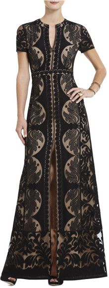 BCBGMAXAZRIA Cailean Lace Maxi Dress - Lyst