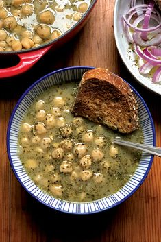 Greek chickpea lemon soup is on the list of unpretentious simple foods which are absolutely delicious with a distinctive flavor. via Greek Foodie Greek Recipes, Soup Recipes, Vegetarian Recipes, Cooking Recipes, Healthy Recipes, Chickpea Recipes, Simply Recipes, Chickpea Soup, Turkey Soup