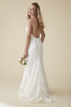 Sleek, sparkly lace, lovely low back...Astrid & Mercedes Riviera.