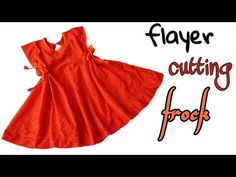 Flayer cutting tunic top full cutting and stitching tutorial Baby Frock Pattern, Frock Patterns, Baby Dress Patterns, Baby Girl Frocks, Frocks For Girls, Baby Girl Frock Design, Tailoring Classes, Baby Skirt, Kids Frocks Design