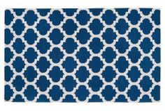 Rug for master bedroom. Pair with white hotel sheets with blue border.