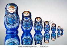 Babushka dolls from Prague, Czech Republic. Prague Babushka with 9 pieces. This is the large babushka doll set Russian Babushka, Russian Folk Art, Russian Style, Matryoshka Doll, Kokeshi Dolls, Wooden Dolls, Royalty Free Stock Photos, Illustration, Surface