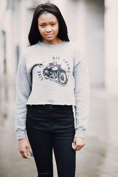 Brandy ♥ Melville | Nancy Live Fast Die Young Sweatshirt - Graphics