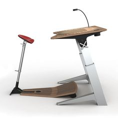 Upright Work Desk / Stool. Standing up while you work is probably the best thing you can do.