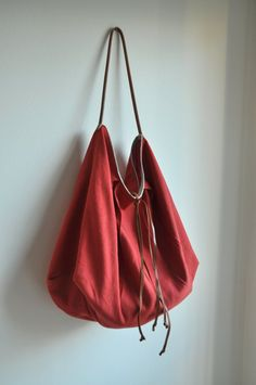 Color me red - Large linen tote