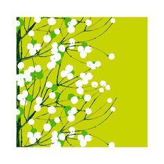 Marimekko Havi Lumimarja green napkins 33x33 cm 20 pcs: Amazon.de: Kitchen & Home