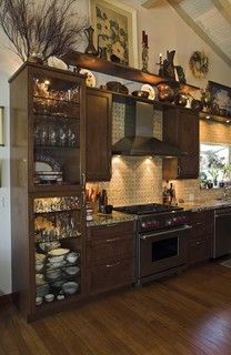 Kitchen & decorating above kitchen cabinets tuscany | Hereu0027s a closer look at ...