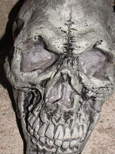 Demonic Skull On Front Steps