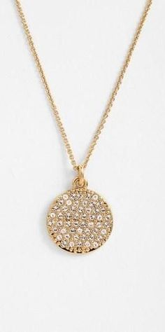 kate spade new york 'idiom - all that glitters' boxed pavé pendant necklace