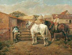 The Farmyard - Alfred James Munnings
