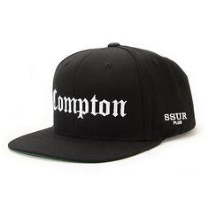 0d6653872a0 SSUR Compton Black Snapback Hat